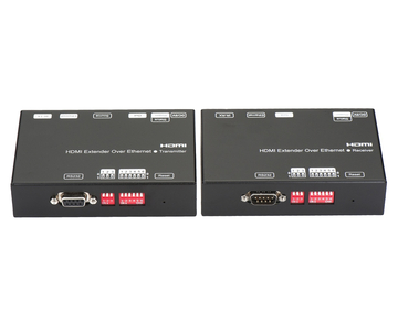 120m HDMI Extender over IP with H.264 encoder, Support IR, RS232, POE
